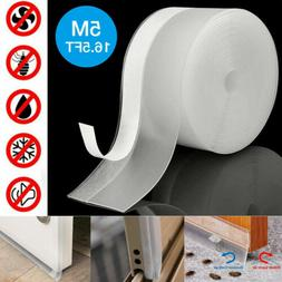 16FT Door Seal Strip Weather Stripping Self Adhesive Rubber