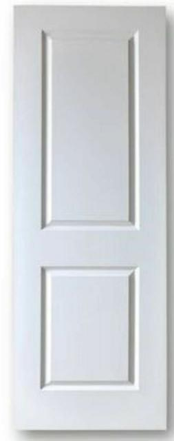 2 Panel Solid Core Interior Door Slabs - Primed White - All