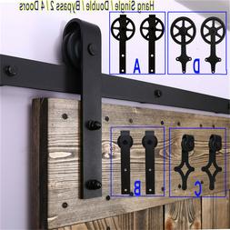 4-20FT Sliding Barn Door Hardware Closet Track Kit for Singl