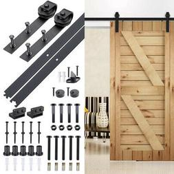 6.6 FT Carbon Steel Sliding Barn Wood Door Hardware Track Ro