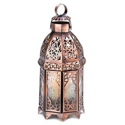Gifts & Decor Copper Finish Iron Moroccan Candle Holder