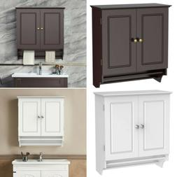 Bathroom Cabinet Storage Espresso Wall Mount Over Toilet She