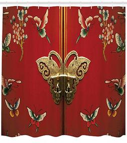 Bright Butterfly Door on Chinese Style Floral Design Art Fab