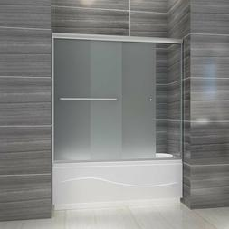 """ELEGANT SHOWERS Bypass Frosted Glass Tub Doors 58 1/2-60""""W B"""