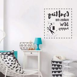 Crafting Sew Happy Sewing Quote Wall Sticker Vinyl Art Home