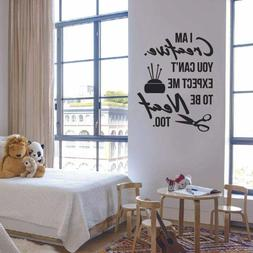 Creative Neat Sewing Sew Quote Wall Sticker Vinyl Art Home R