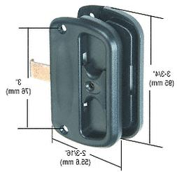 """CRL Bulk Pack of Black Sliding Screen Latch and Pull with 3"""""""