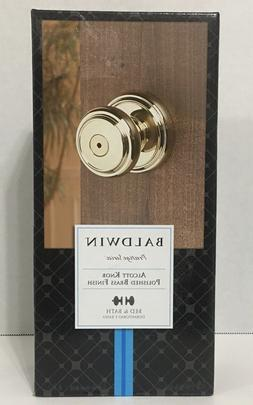 Baldwin Door Knob Prestige Series Bath Knob, Polished Brass