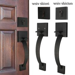 Exterior Front Entry Door Handle set 2sides Oil Rubbed Bronz