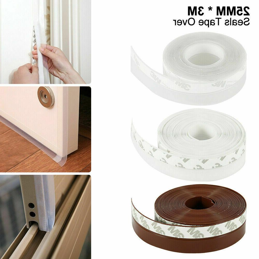3M Door Bottom Adhesive Weather Stripping Rubber Sweep