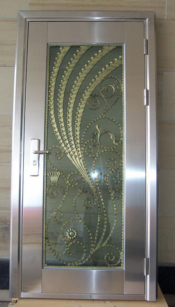 modern stainless steel entry door free shipping