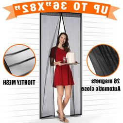 Magnetic Screen Door with Heavy Duty Strong Magnets and Mesh