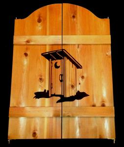 New Outhouse Saloon Bathroom Restroom Cafe Swinging Doors 24