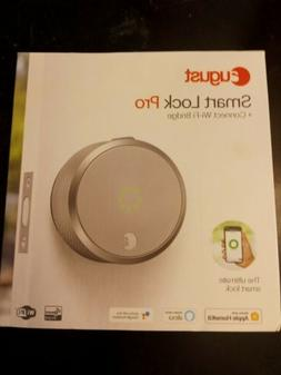 August Smart Lock Pro with Connect Wi-Fi Bridge - Silver AUG