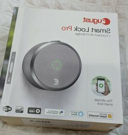August Smart Lock Pro with Connect Wi-Fi Bridge - Silver
