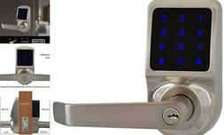 X3SN Touchscreen Keyless Keypad Door Lock, Non Handed Satin